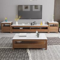 小户型茶几 实用客厅大理石北欧茶几实木电视柜套装精美家实用现代简约小户型 整装