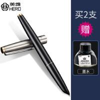 官方正品英雄钢笔墨水笔329特细学生用练字暗尖0.38mm成人办公用