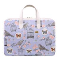 苹果笔记本电脑包macbook13.3air内胆包pro15手提女mac book13寸14时尚可爱 小鸟【防水帆布】