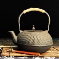 铁茶壶日本南部生铁壶茶具烧水煮茶老铁壶铁壶铸铁泡茶纯手工日本南部铸铁茶壶铸铁壶无涂层 烧水壶茶壶