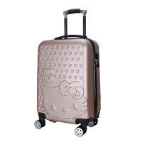 新款礼品拉杆箱abs学生行李箱 kt猫登机箱 旅行箱包 男女20寸磨砂款 20寸