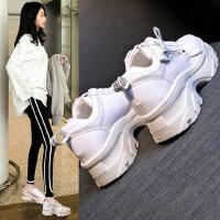 韩版ins老爹鞋女 时尚百搭厚底增高鞋女 新款女士松糕鞋 街拍小白鞋