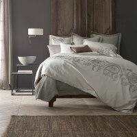 美式全棉贡缎手工刺绣床上四件套 春夏纯棉欧式复古床品套件