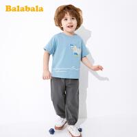 巴拉巴拉童装男童短袖套装宝宝T恤儿童装2020夏装新款防蚊裤洋气