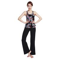 [当当自营]皮尔瑜伽(pieryoga)2018新款瑜伽服套装女 跑步运动健身服修身显瘦两件套 81130花瓣印花吊带