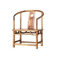 胡桃木实木椅子简约现代原木太师椅圈椅新中式官帽椅办公椅茶椅
