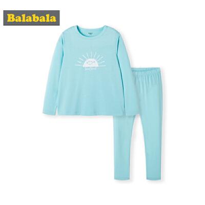 【7折价:90.93】巴拉巴拉儿童内衣套装秋衣秋裤宝宝睡衣薄款长袖女弹力两件套男童