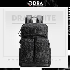 DRACONITE个性印花大容量户外旅游背包男士时尚潮牌双肩包11491A