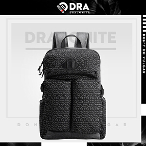 【支持礼品卡支付】DRACONITE个性印花大容量户外旅游背包男士时尚潮牌双肩包11491A