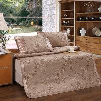 富安娜家纺 馨而乐夏季提花席子1.5米1.8米床可折叠席 花之晨凉席/ 馨致