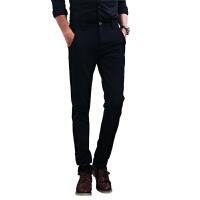 男士商务休闲裤韩版修身西裤青年纯色免烫休闲长裤