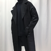 201808260222472322018新款潮头条2018新款冬季韩版修身中长风衣男呢子青年色外套帅气衣服