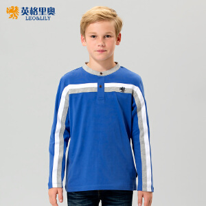 童装男童秋装半开襟长袖T恤2017新款韩版中大童纯棉体恤儿童上衣