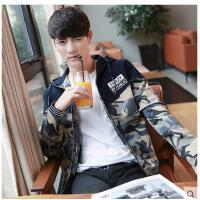 新款韩版工装军旅迷彩连帽男士夹克衫青年休闲男装外套时尚茄克潮