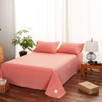粉色床单 公主粉 灰色床单单件 1.5米床纯棉 北欧简约1.8米2.0m床