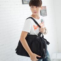 吉野新款防水尼龙包时尚男士大包包潮流多功能手提单肩包斜挎包韩版男包休闲运动包旅行包