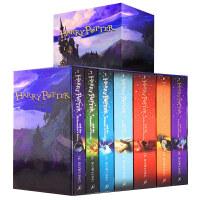 英文原版 哈利波特1-7+哈利波特8 Harry Potter1-7 Boxed Set 七本盒装 英国版 原装进口正