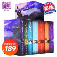 英文原版 哈利波特1-7 Harry Potter1-7 Boxed Set 七本盒装 英国版 原装进口正版图书 J.K
