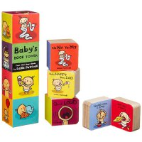 【现货】英文原版 Baby's Book Tower 0-3岁宝宝的书塔 Leslie Patricelli 培养宝宝行为习惯系列 口袋纸板书4本迷你书套装