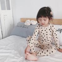 儿童内衣套装纯棉保暖宝宝睡衣秋冬0-3岁女童小童秋衣秋裤家居服