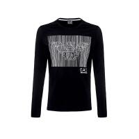 EMPORIO ARMANI EA.7阿玛尼男士黑色LOGO图案棉质长袖T恤轻奢品6XPTA1PJ20Z 1200