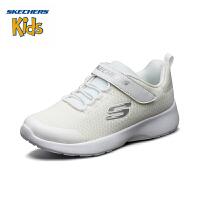 斯凯奇(SKECHERS)儿童鞋 2019年秋季新款 简约轻便学院鞋 透气网布休闲鞋 664091L 白色-WHT-全