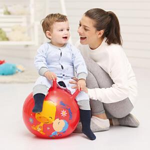 【当当自营】费雪FisherPrice 18寸手柄加厚羊角跳跳球充气球幼儿园儿童户外玩具球跳跳球(送脚泵) 红色晴天F0701-2