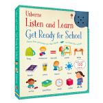 Usborne英语单词发声书 英文原版 Listen and Learn Get Ready for School 有