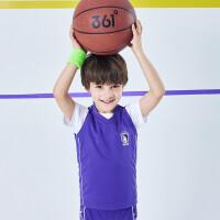 【1件5折到手预估价:66.3】361度童装 男小童篮球套装儿童男小童2021夏季新品男童篮球套装N52124405