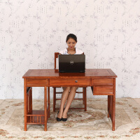 包邮简迪红木家具电脑桌椅组合花梨木台式电脑桌办公桌中式实木家具