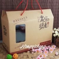 现货东北野生黑木耳通版蘑菇山珍礼盒空箱子干货礼品盒袋农家特产