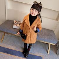 童装2017韩版新款女童毛圈呢大衣儿童秋加厚呢子外套宝宝风衣潮