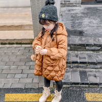女童装棉衣外套2017新款洋气儿童中长款加厚羽绒宝宝棉袄岁
