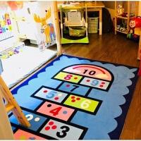 儿童房卡通地毯地垫可爱卡通儿童房地毯公主宝宝爬行垫客厅卧室床边毯幼儿园毯可水洗
