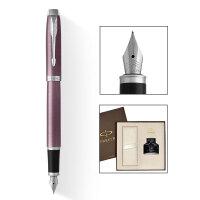 【当当自营】PARKER 派克 2015IM丁香紫白夹墨水笔+墨水礼盒