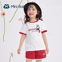 [TOYOYA联名]迷你巴拉巴拉儿童T恤2021夏季新款男女童纯棉短袖