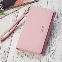 钱包女长款手拿包大容量手机包韩版简约时尚钱包