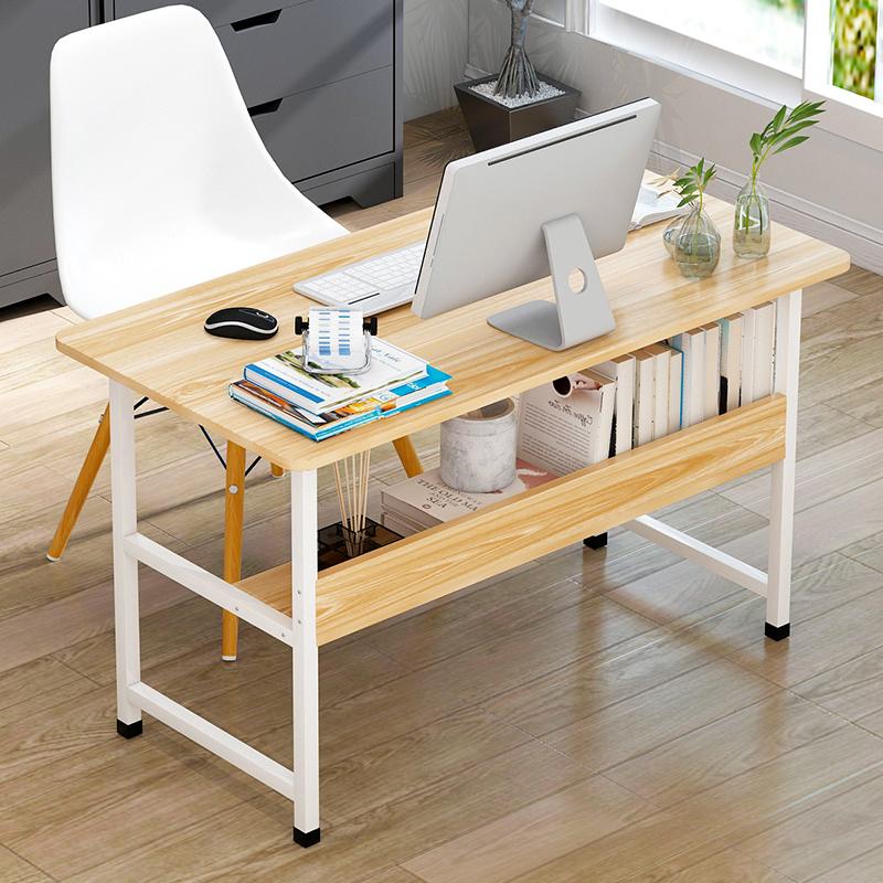亿家达电脑桌简易台式书桌现代家用笔记本办公桌子简约书桌单板桌小身材大容量 方便存储 安装简易