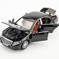 仿真1/32奔驰迈巴赫S600汽车模型男孩儿童玩具车合金回力车模