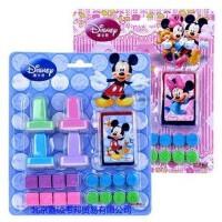 正版迪士尼儿童印章玩具 米奇20件套装可爱卡通印章DM0269-1
