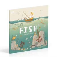 英文原版 鱼儿 Brendan Kearney 插画 DK 环保绘本 Fish: A tale about riddin