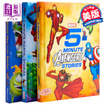 【中商原版】漫威迪士尼皮克斯5分钟故事-男孩 3册合集 英文原版 Marvel 5-Minute Avengers S
