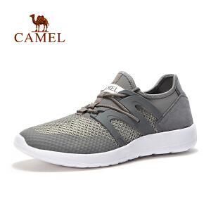 camel骆驼户外男款越野跑鞋 春夏系带舒适透气运动鞋