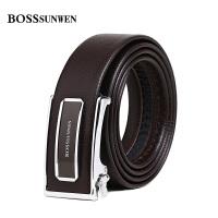 bosssunwen新款男士皮带自动扣牛皮男式皮带腰带青年商务自动扣S75-282943B1D
