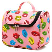 旅行洗漱包 大容量化妆品收纳包 可爱防水便携加厚PU皮