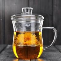 20191217064024932红兔子350ml高硼硅耐热花茶玻璃茶具三件杯耐热玻璃杯带过滤内胆花草茶杯美体杯三件杯