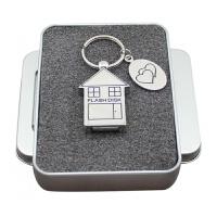 金属不锈钢小房子u盘32g 可爱个性创意展会礼品优盘32G 刻字定制 USB2.0 u盘+盒子 u盘刻字 官方标配