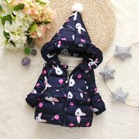 童装女宝宝季棉衣小女孩加厚棉袄1-3-5岁装女童羽绒外套