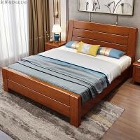实木床中式1.8米双人床1.5米 主卧大床气压高箱床箱框储物婚床 +2柜