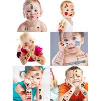 儿童纹身贴纸美指甲贴宝宝纹身贴纸卡通水印贴纸公主粘纸贴画防水